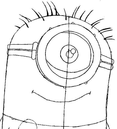 500x550 Step 6 Drawing Tim The Minion From Despicable Me Easy Steps