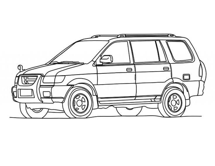Minivan Drawing