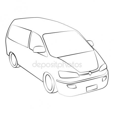 450x450 Cartoon Silhouette Of A Car Stock Vector Epic22