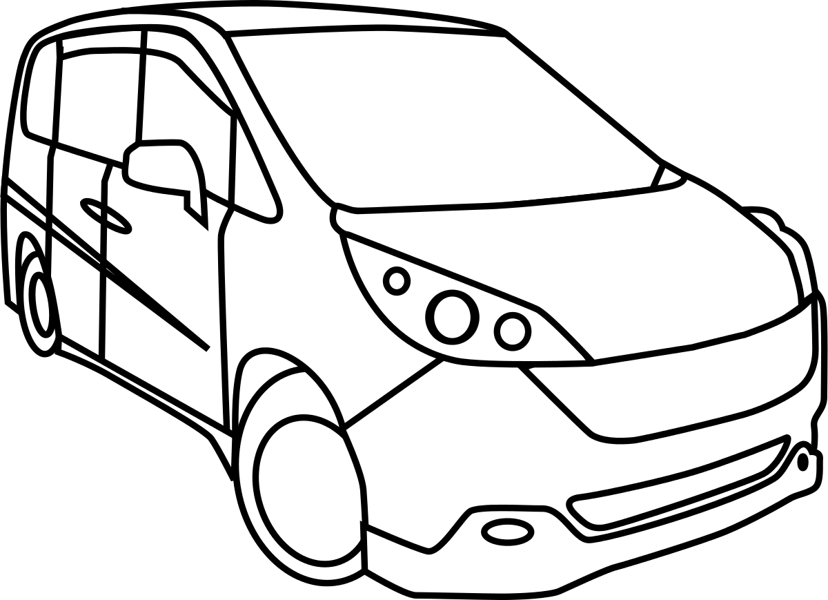 1200x869 Minivan Drawing Clipart Panda