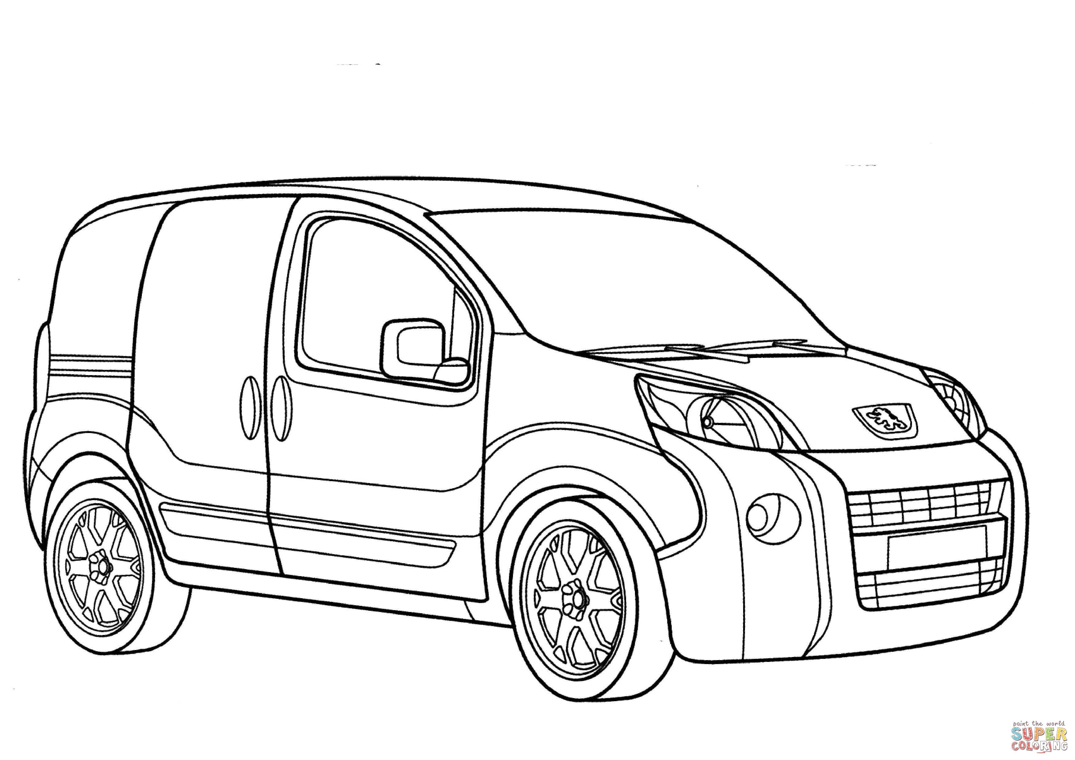 Minivan Drawing At Getdrawings