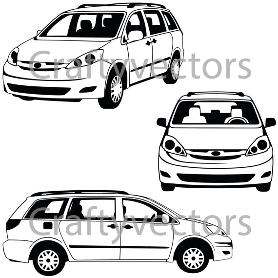 570x570 Toyota Sienna Vector File