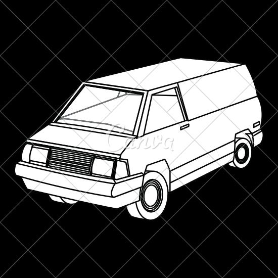 550x550 Van Vehicle Icon