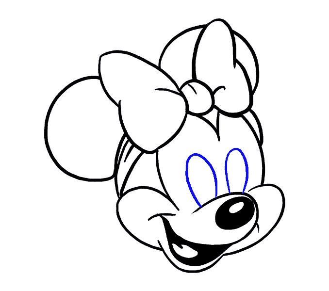 678x600 How to Draw Minnie Mouse in a Few Easy Steps Easy Drawing Guides
