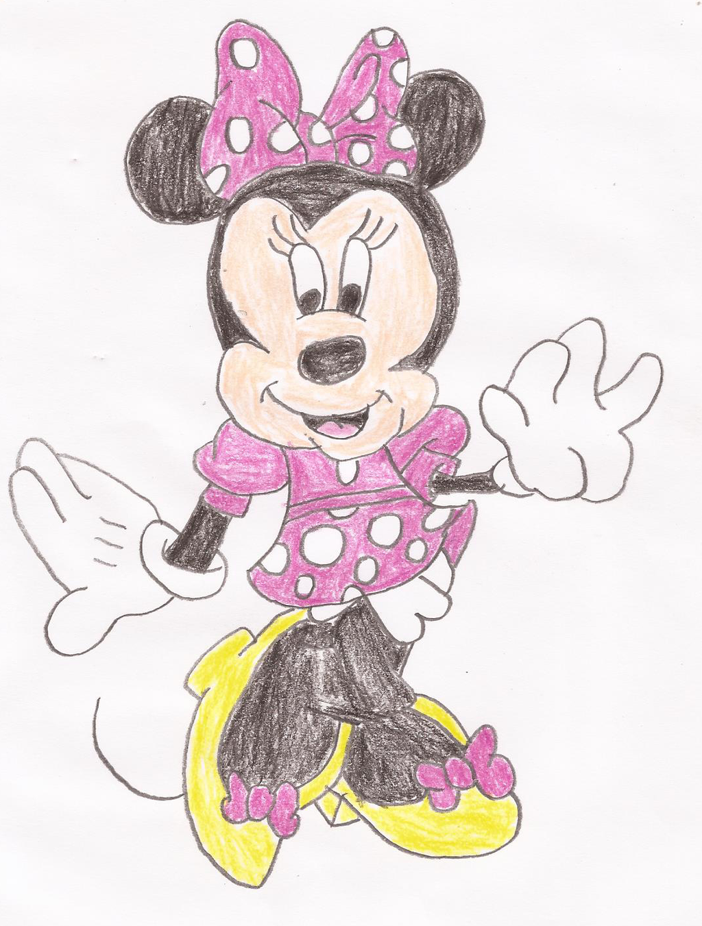 1024x1351 Minnie Mouse Drawing By Kittyjewelpet78