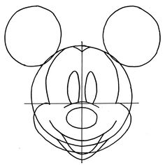 236x236 Drawn Face Mickey Mouse