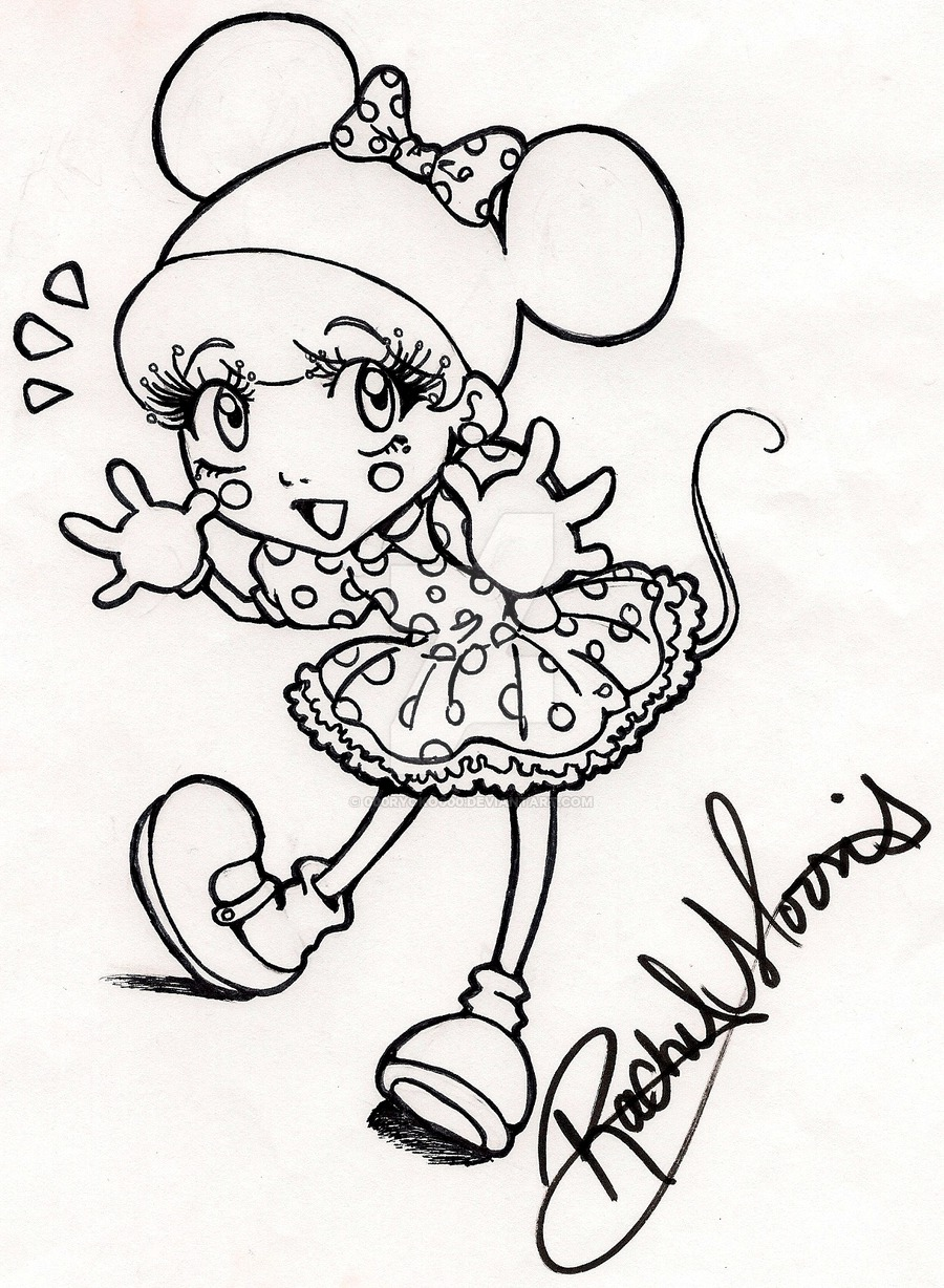 900x1228 Minnie Mouse Girl By 000ryoko000