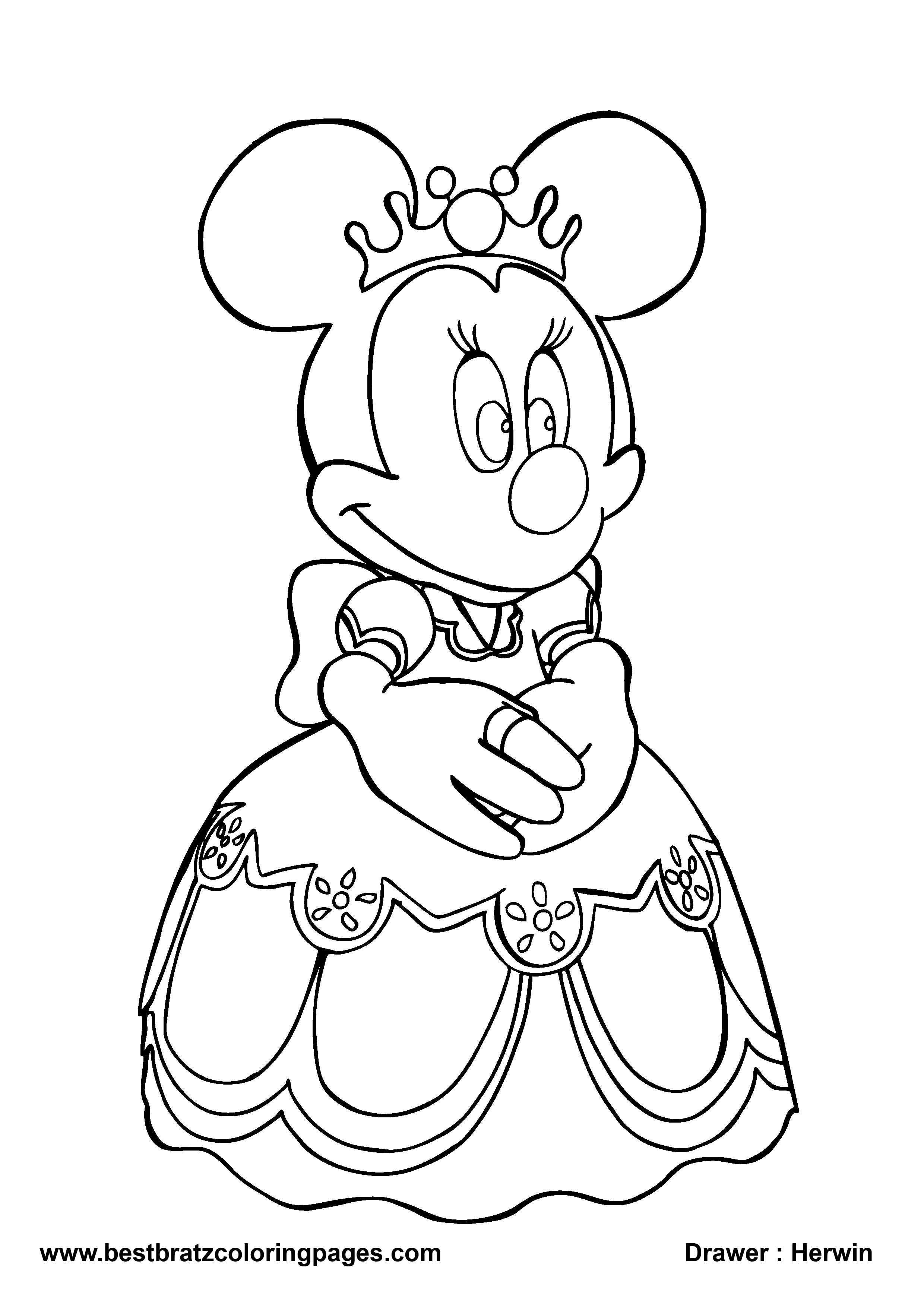 2480x3508 Coloring Pages Excellent Minnie Mouse