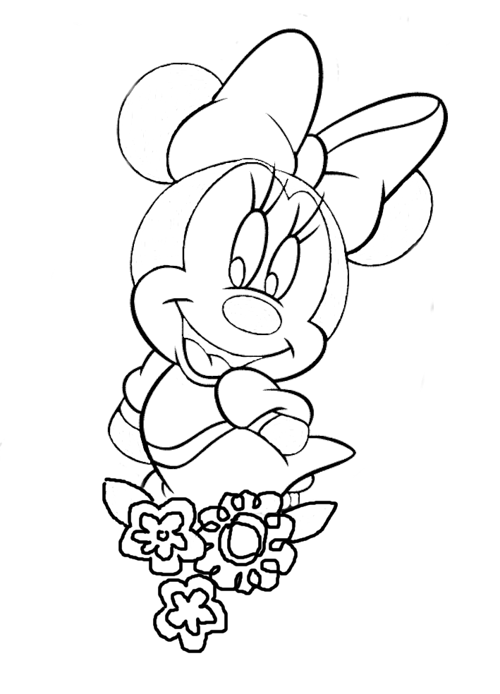 709x984 Drawing Of Minnie Mouse 488572