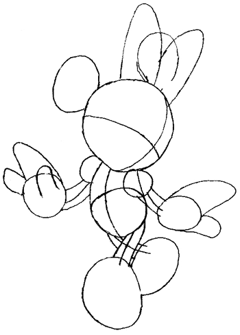 350x488 How To Draw Minnie Mouse With Simple Step By Step Drawing Lesson