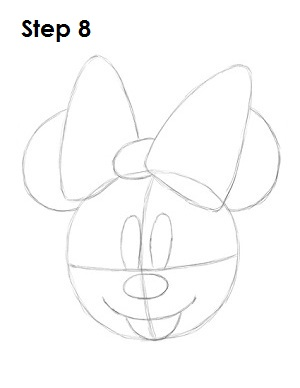 300x388 How to Draw Minnie Mouse
