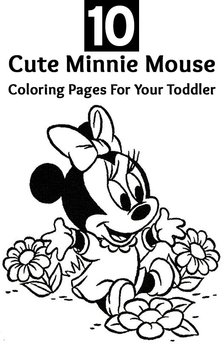 Coloring Pages Draw Minnie Mouse 736x1128 Drawn Mice Toddler