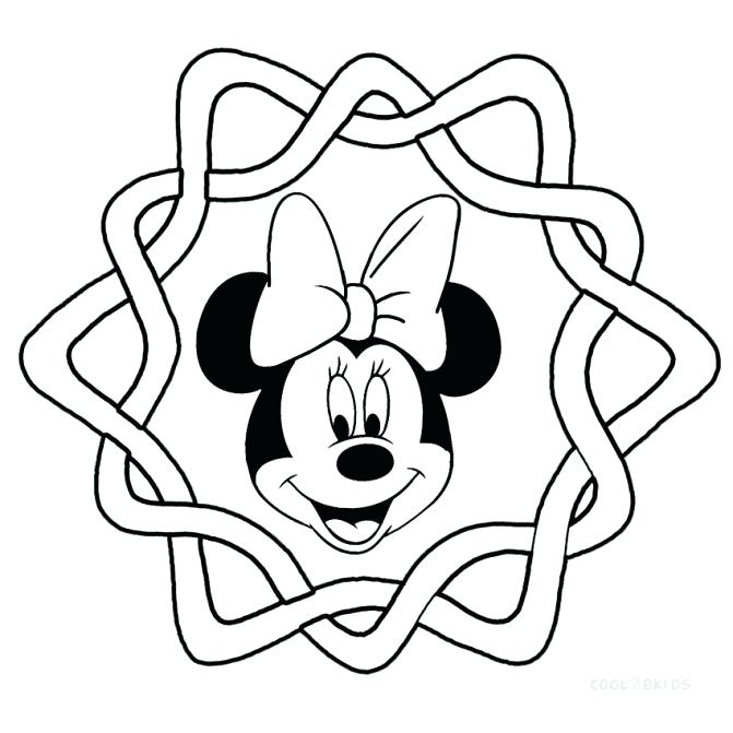 671x671 Printable Coloring Pages Minnie Mouse Face