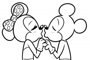 302x202 Gallery Minnie And Mickey Drawing,
