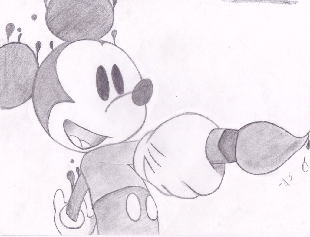 1024x783 Mickey Mouse Pictures In Pencil Art Mickey And Minnie Mouse