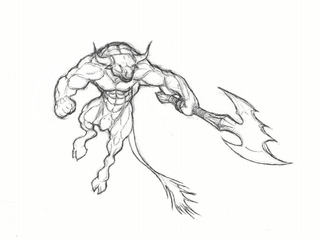 minotaur drawing at getdrawings com