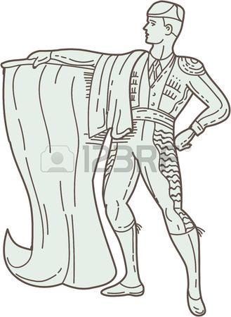 329x450 Mono Line Style Illustration Of An American Patriot Minuteman