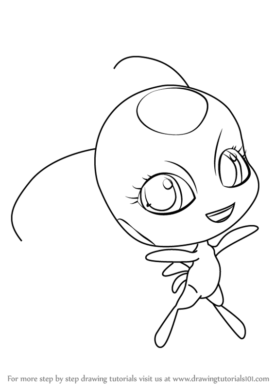 566x800 Learn How To Draw Tikki Kwami From Miraculous Ladybug (Miraculous