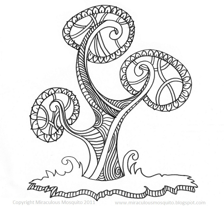 778x717 Stylised Tree Ink Drawing