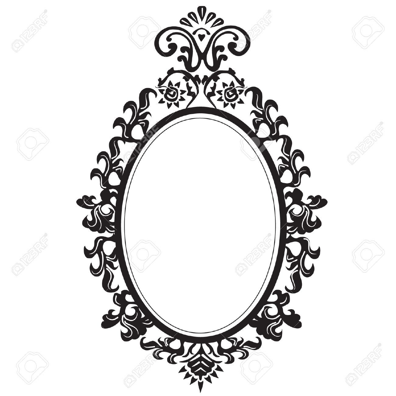 1300x1300 Old Elegant Mirror. Royalty Free Cliparts, Vectors, And Stock