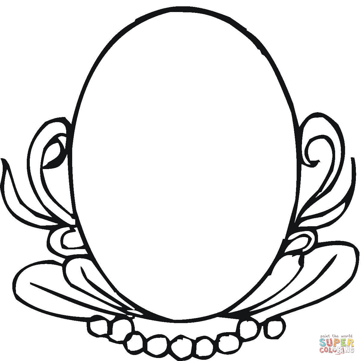 1200x1200 Oval Mirror Coloring Page Free Printable Coloring Pages