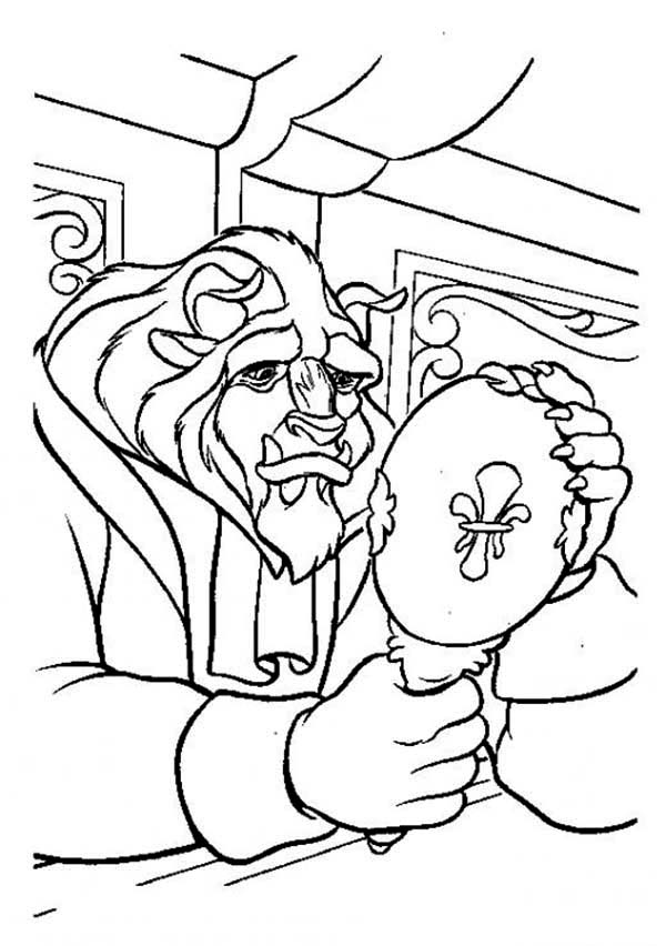 600x852 The Best Look Over His Face In The Mirror Sadly Coloring Page