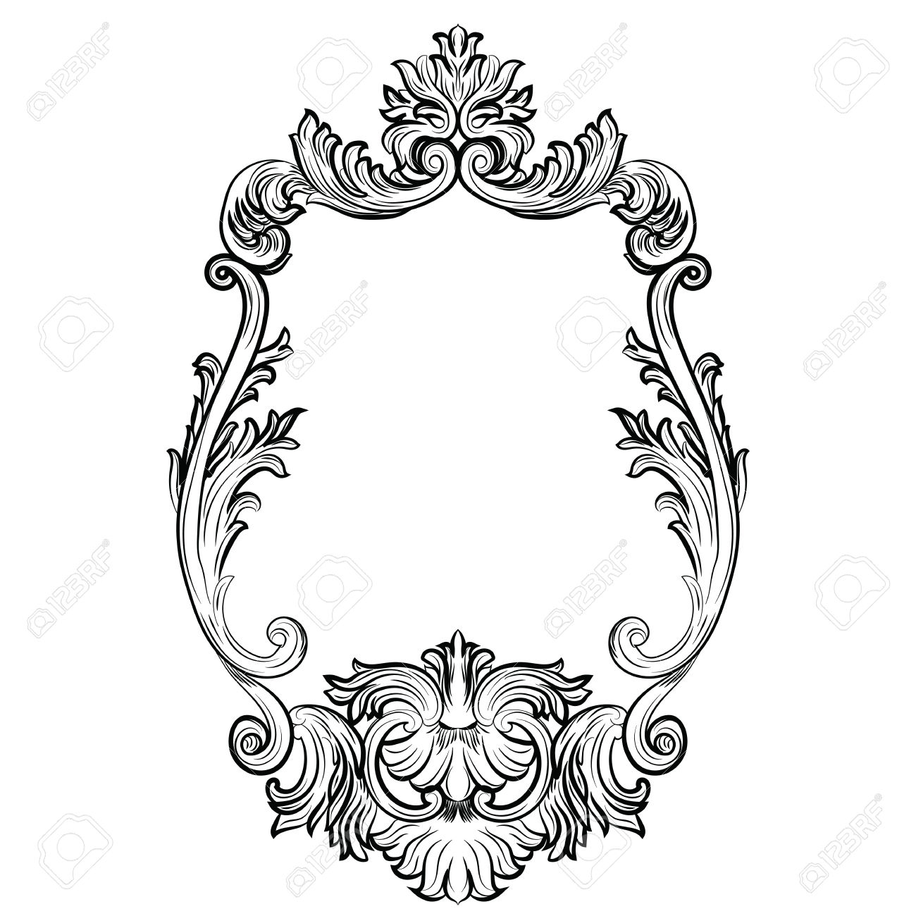 Mirror Frame Drawing