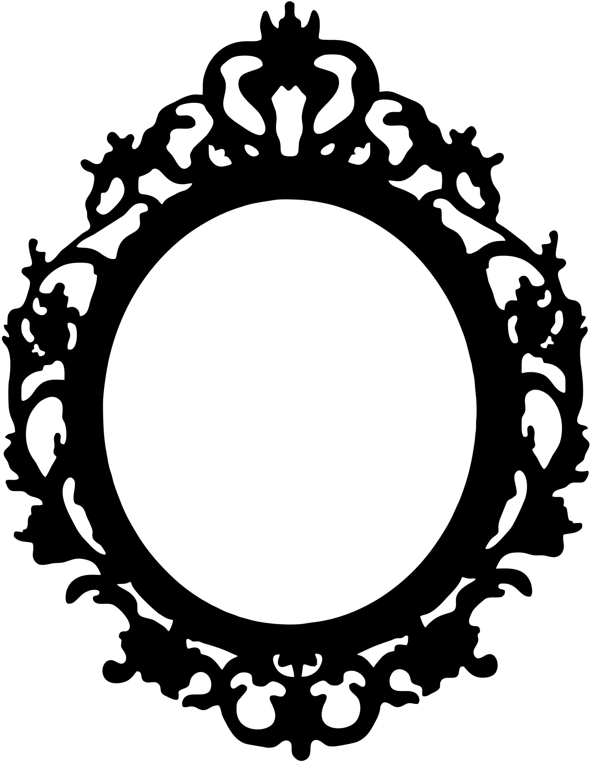 1919x2473 Ornate Hand Mirror Drawing