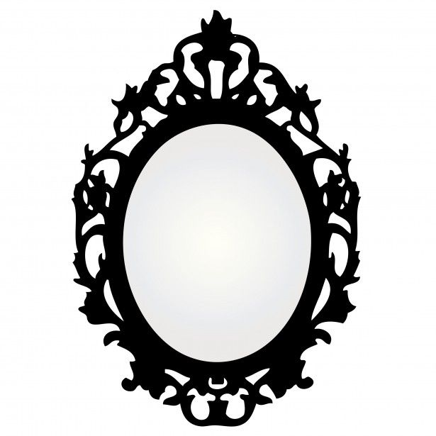 615x615 Vintage Mirror Frame Vector Window Decor Vintage
