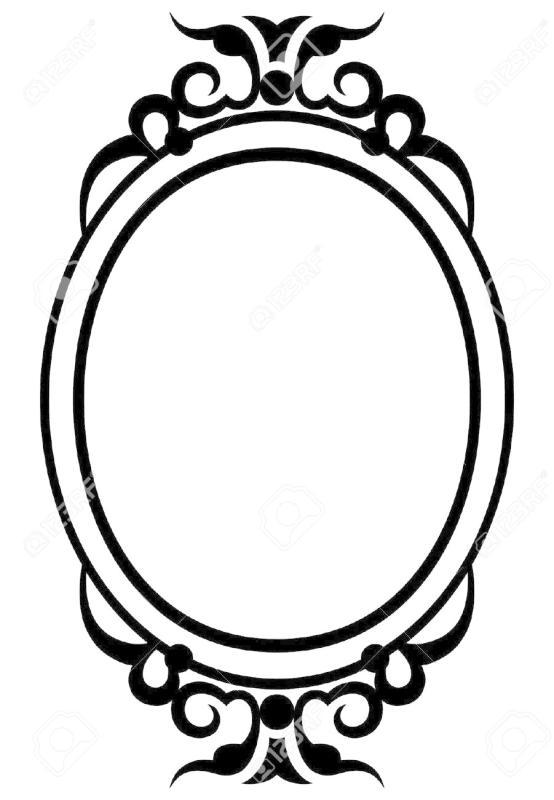 554x800 Mirror Frame Clipart