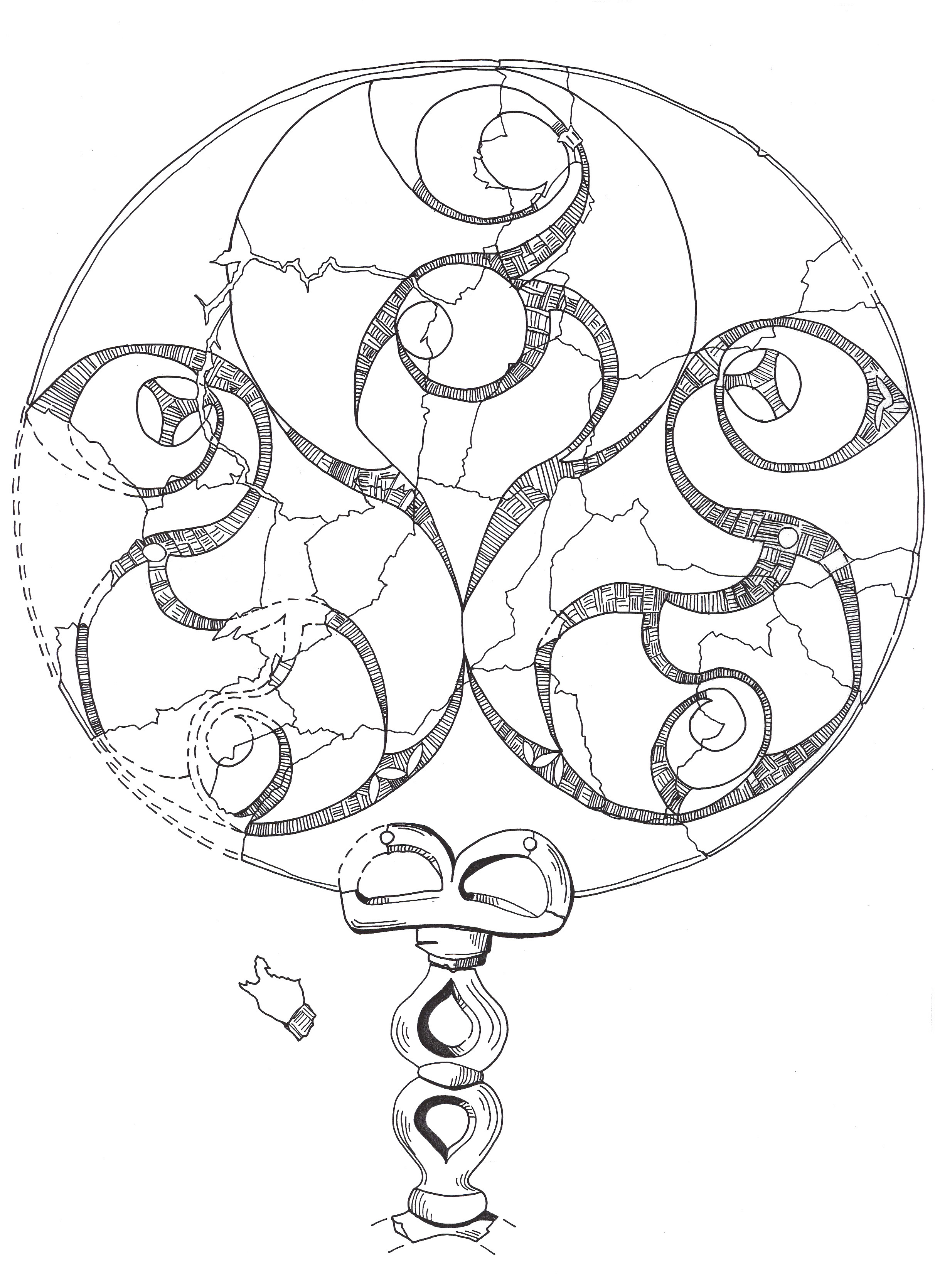 2425x3340 Bromham Mirror Drawing Art! Iron Age