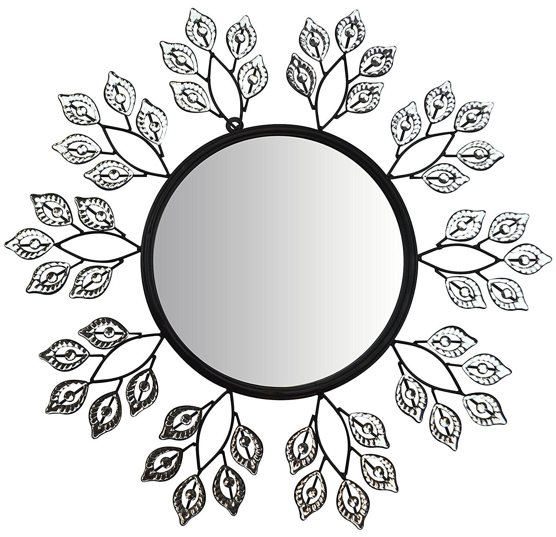 1500x1450 Decorative Leaf Metal Wall Mirror (Crystal Mirror 2)
