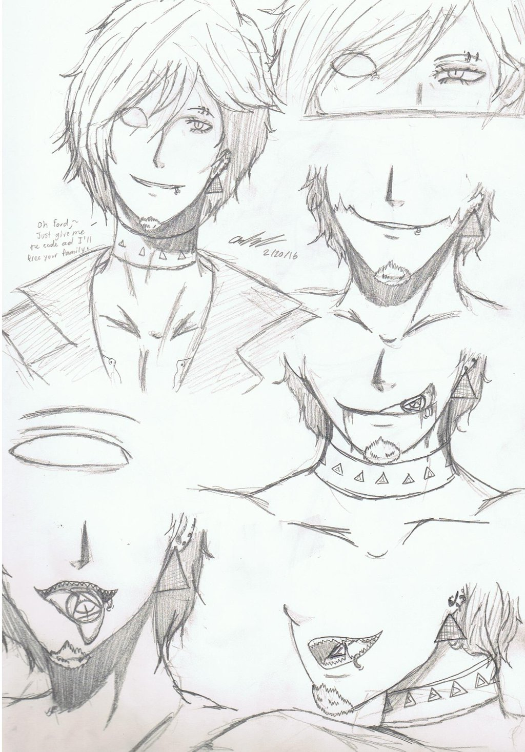 1024x1467 Human! Bill Cipher Mouths And Eye By Mischief Soul Lover