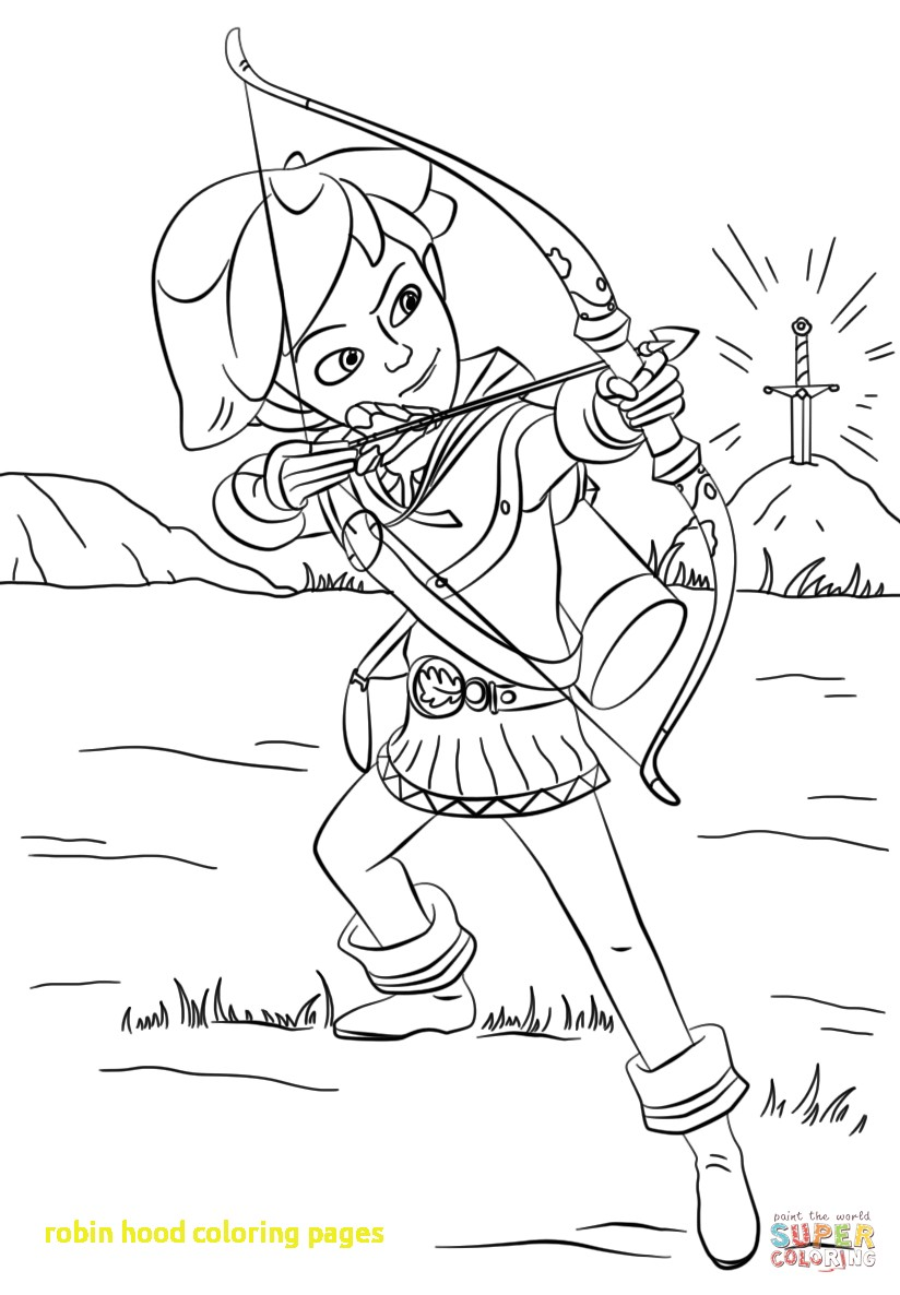824x1186 Robin Hood Coloring Pages With Robin Hood From Mischief