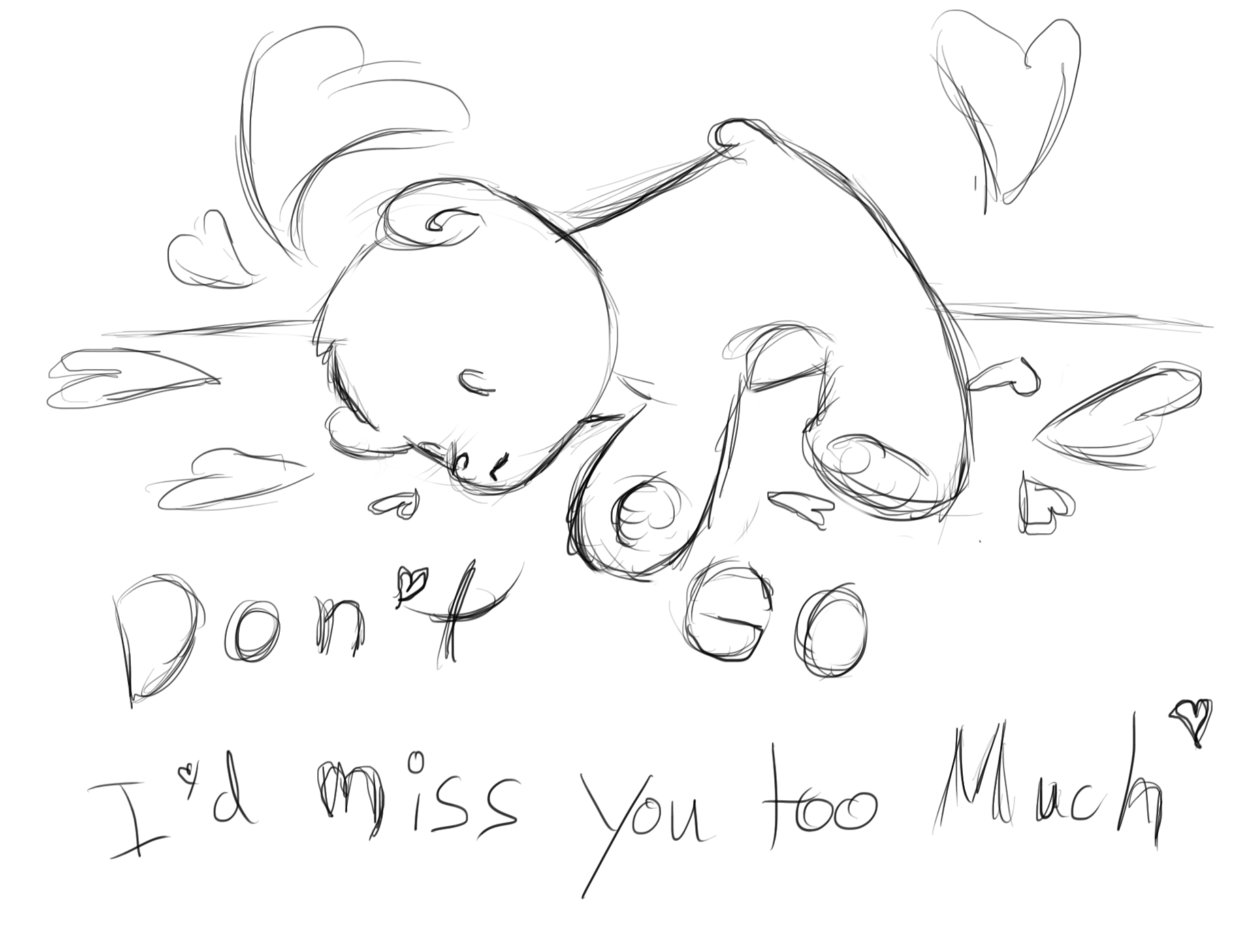 miss you drawing at getdrawings com free for personal use miss you