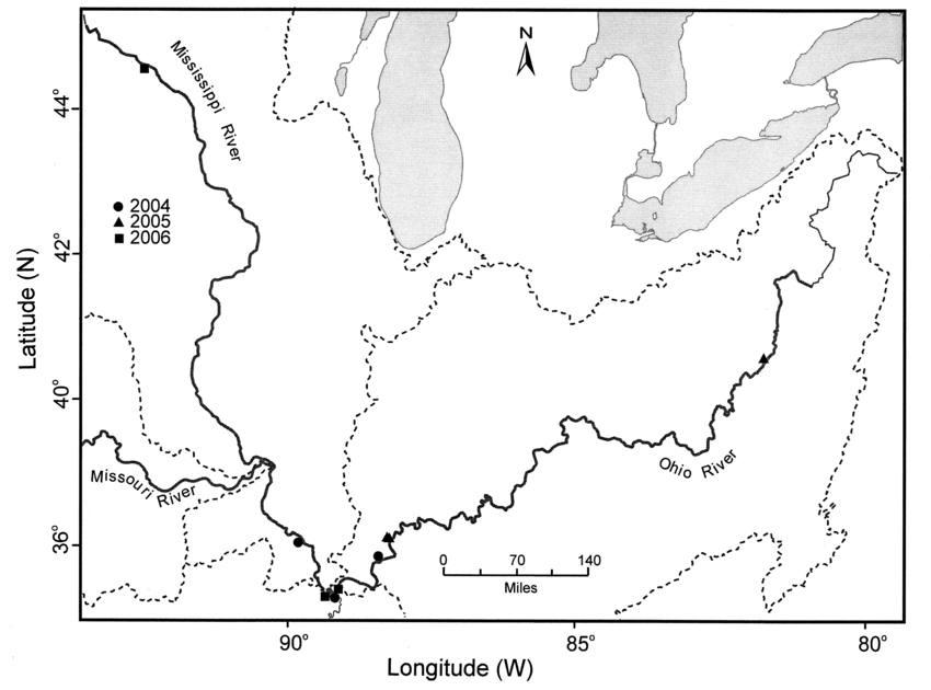 850x630 Distribution Of Gammarus Tigrinus In The Upper Mississippi River
