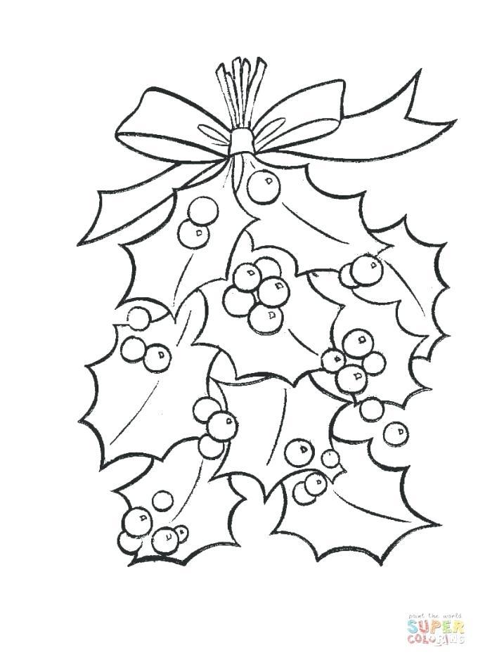 680x938 Mistletoe Coloring Page Mistletoe Coloring Pages Holidays