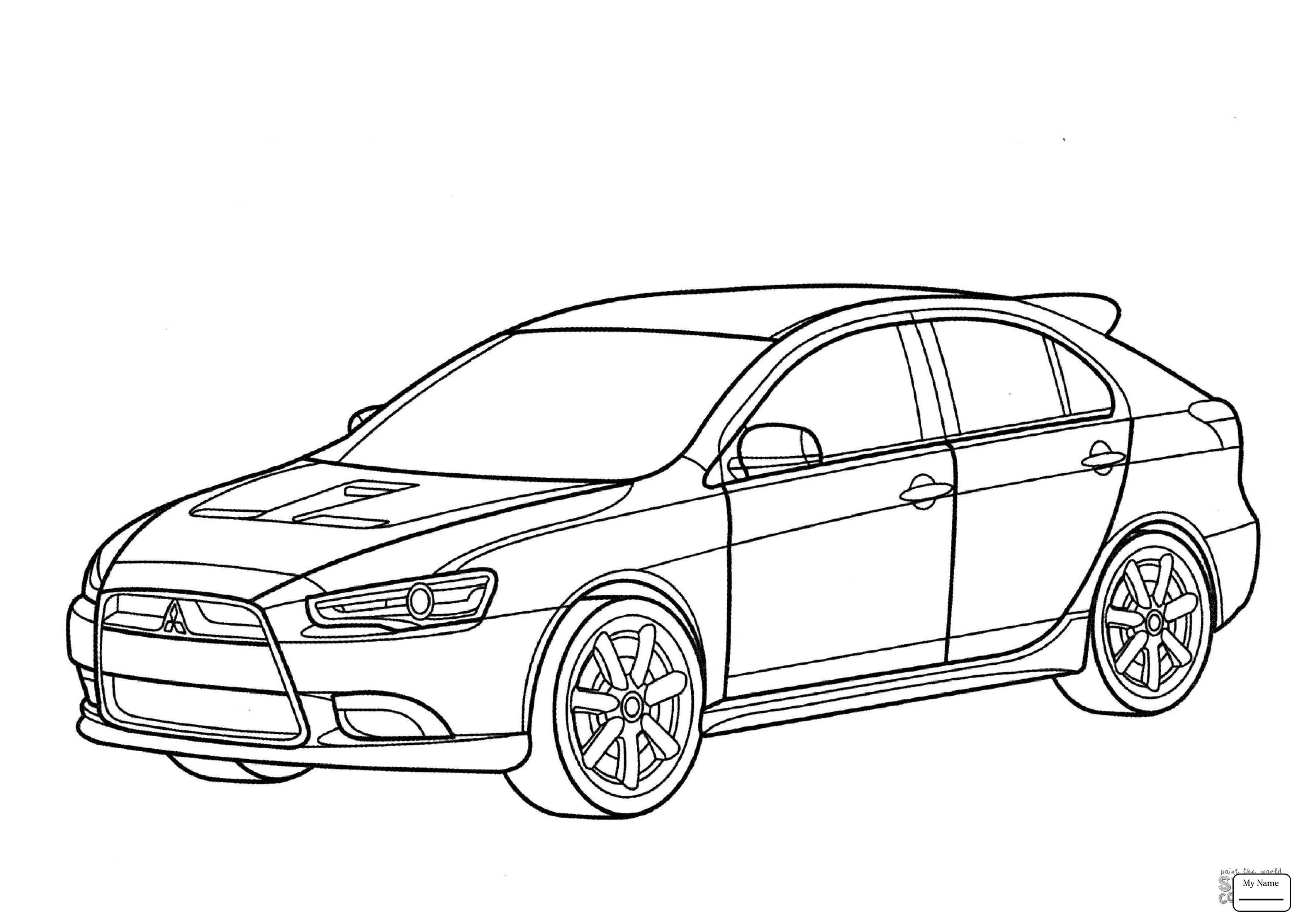 3578x2530 Coloring Pages For Kids Transport Mitsubishi Eclipse