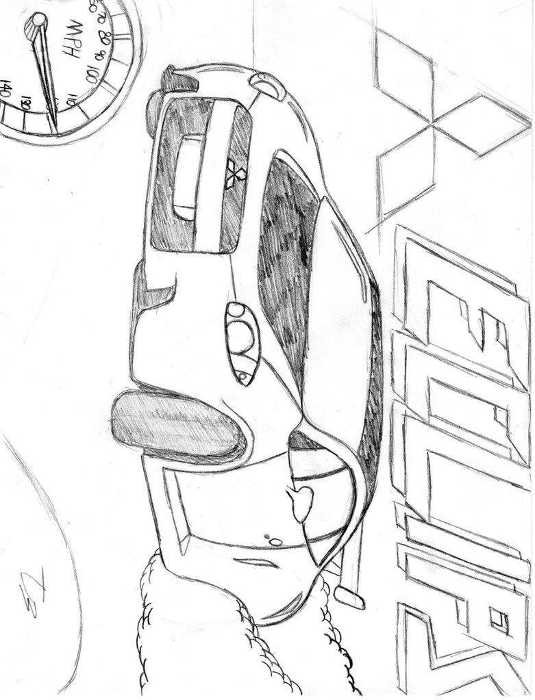 Mitsubishi Eclipse Drawing At Getdrawings Com