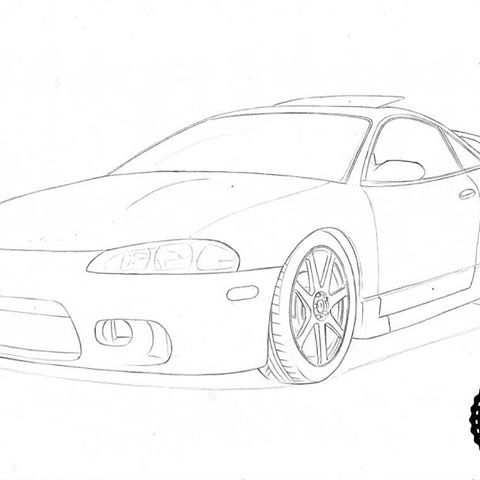 Mitsubishi Eclipse Drawing At Getdrawings Com
