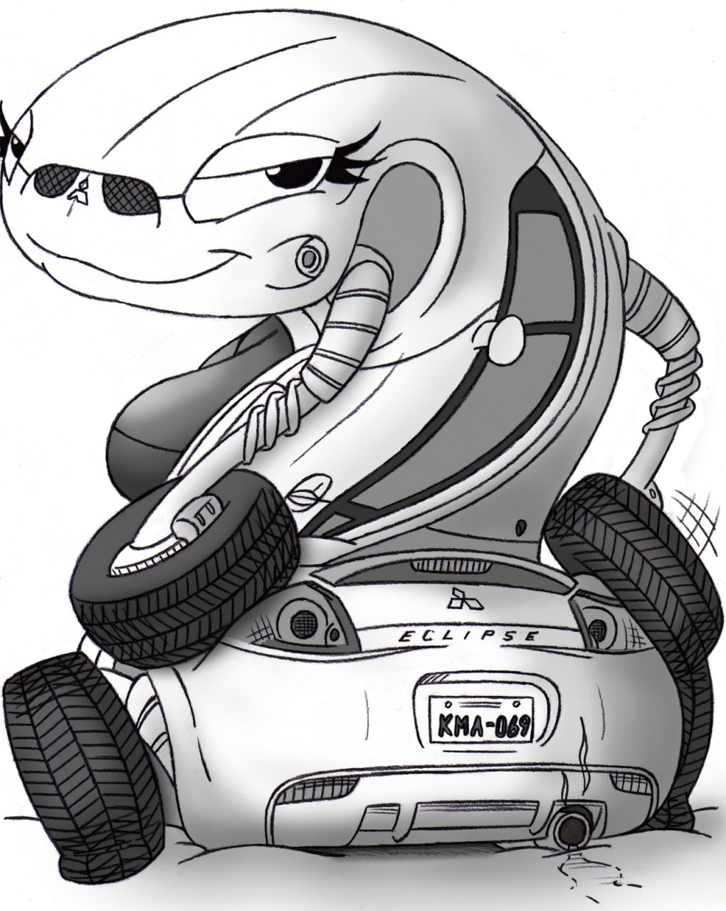 Mitsubishi Eclipse Drawing At Free For Personal Fuse Box Car Truck Parts Ebay 1020x1280 Antro By Half Dude