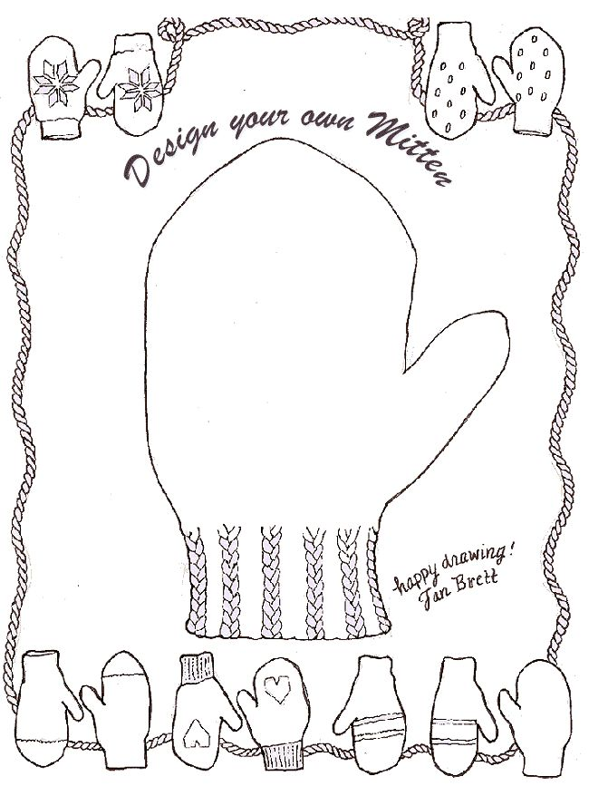 650x867 Design Your Own Mitten. Jan Brett. Keep Clicking Image To Enlarge