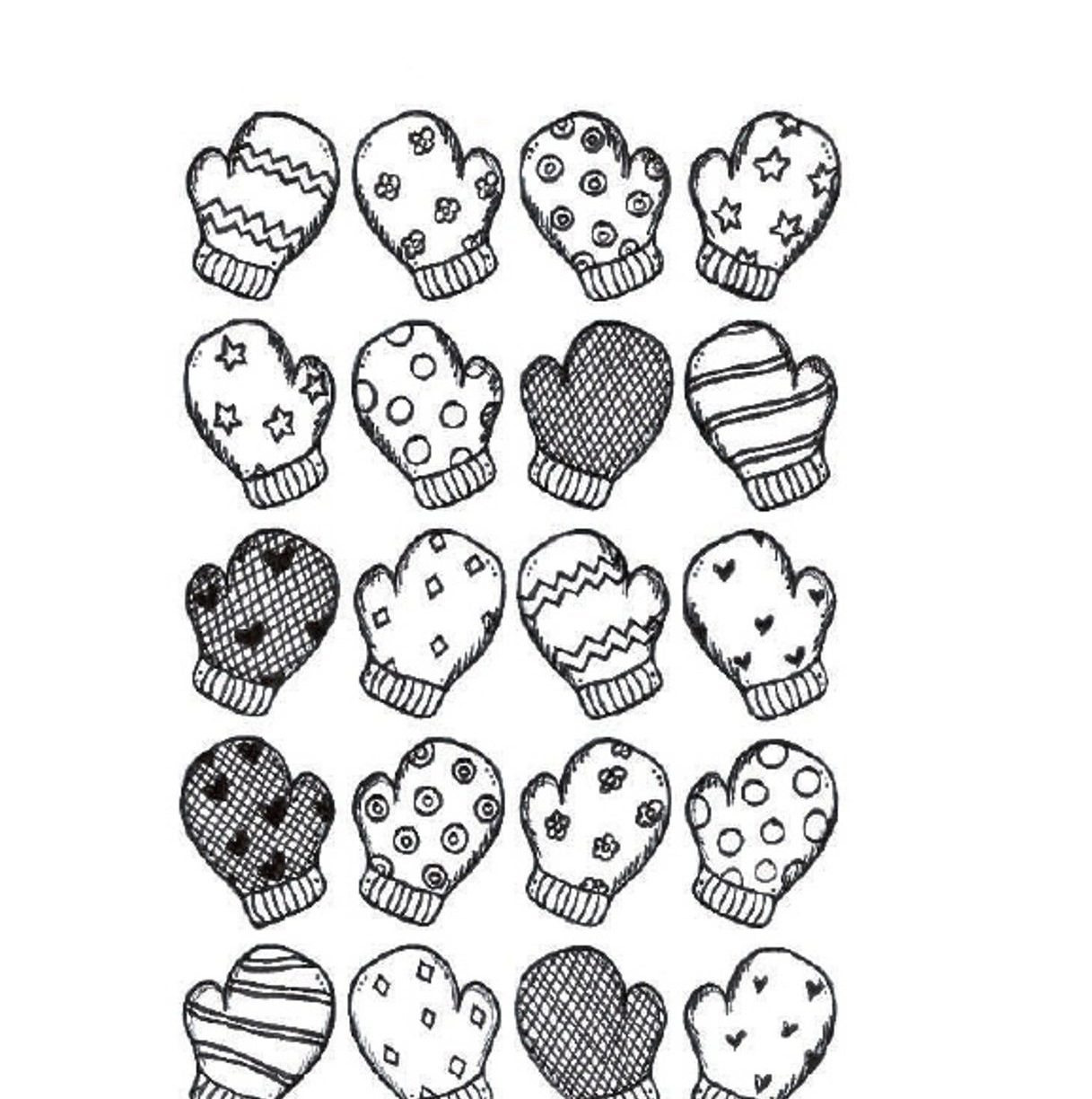 Mittens Drawing at GetDrawings.com   Free for personal use Mittens ...