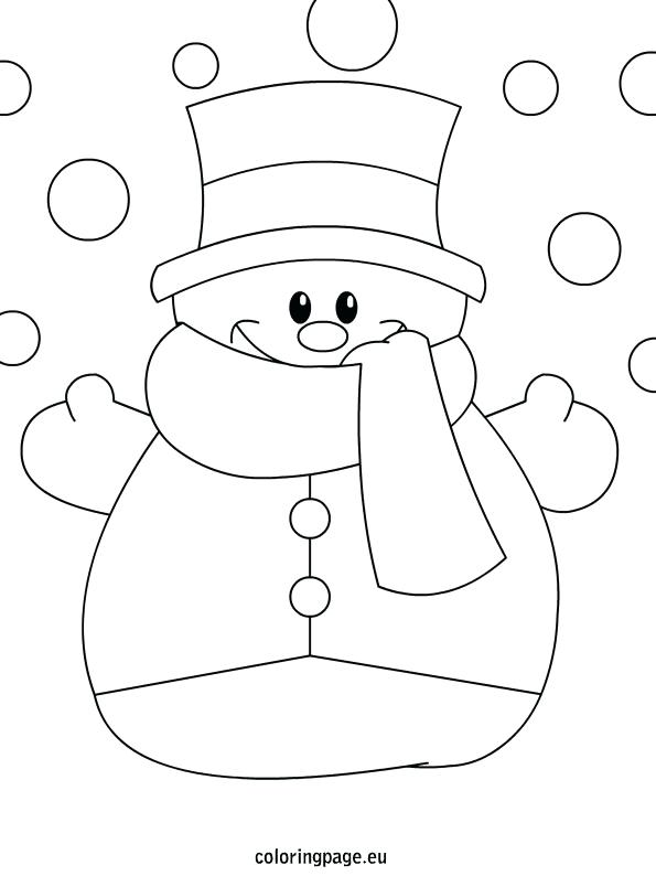 595x804 Snowman With Mittens Coloring Pages Also Snowman Coloring Page 982
