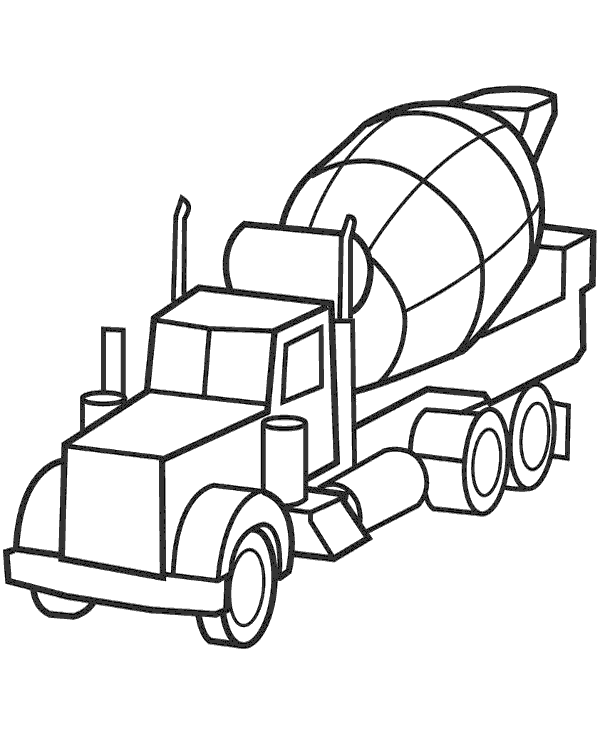 600x740 Concrete Mixer Printable Coloring Page To Print Or Download For Free