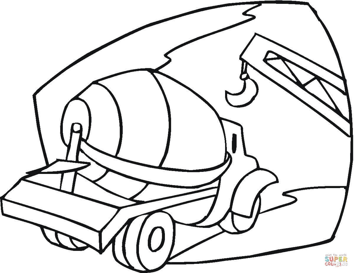 1200x926 Cement Mixer Coloring Page Free Printable Coloring Pages
