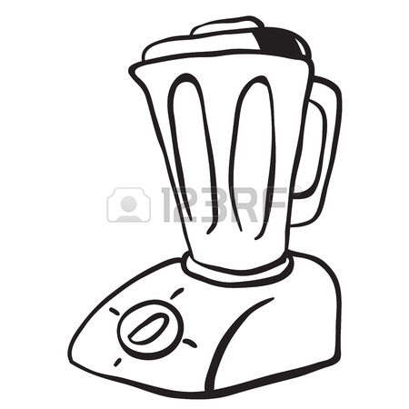 450x450 Simple Black And White Blender Cartoon Royalty Free Cliparts
