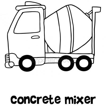 450x450 Concrete Mixer Cartoon Hand Draw Stock Vector Kongvector