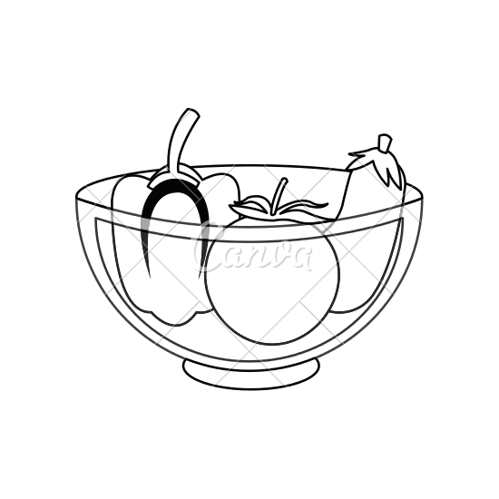 550x550 Bowl Of Vegetables Icon