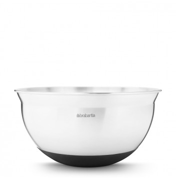 353x358 Brabantia Mixing Bowl 1.6 Litre Matt Steel 363849 Kitchenware